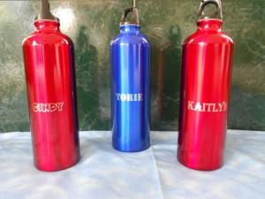 Laser Water Bottles