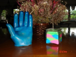 Wax Hand Candle Art